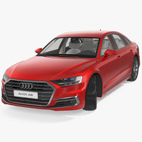 audi a8 2018 rigged 3D