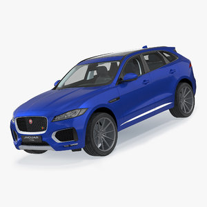 f-pace 2017 simple interior 3D model
