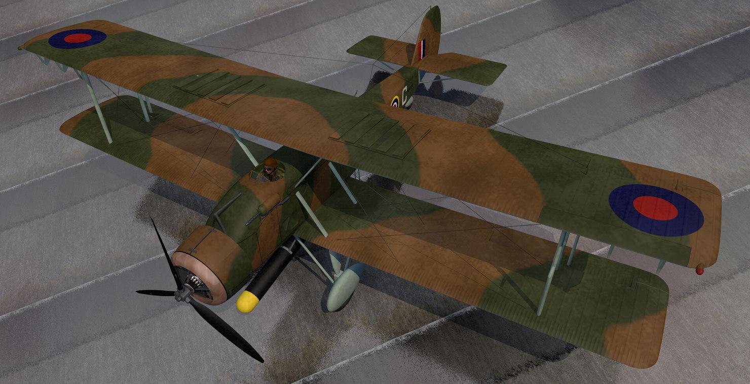 plane vickers wildebeest mk-4 3D model