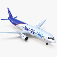 3D russian airliner mc-21 300 model