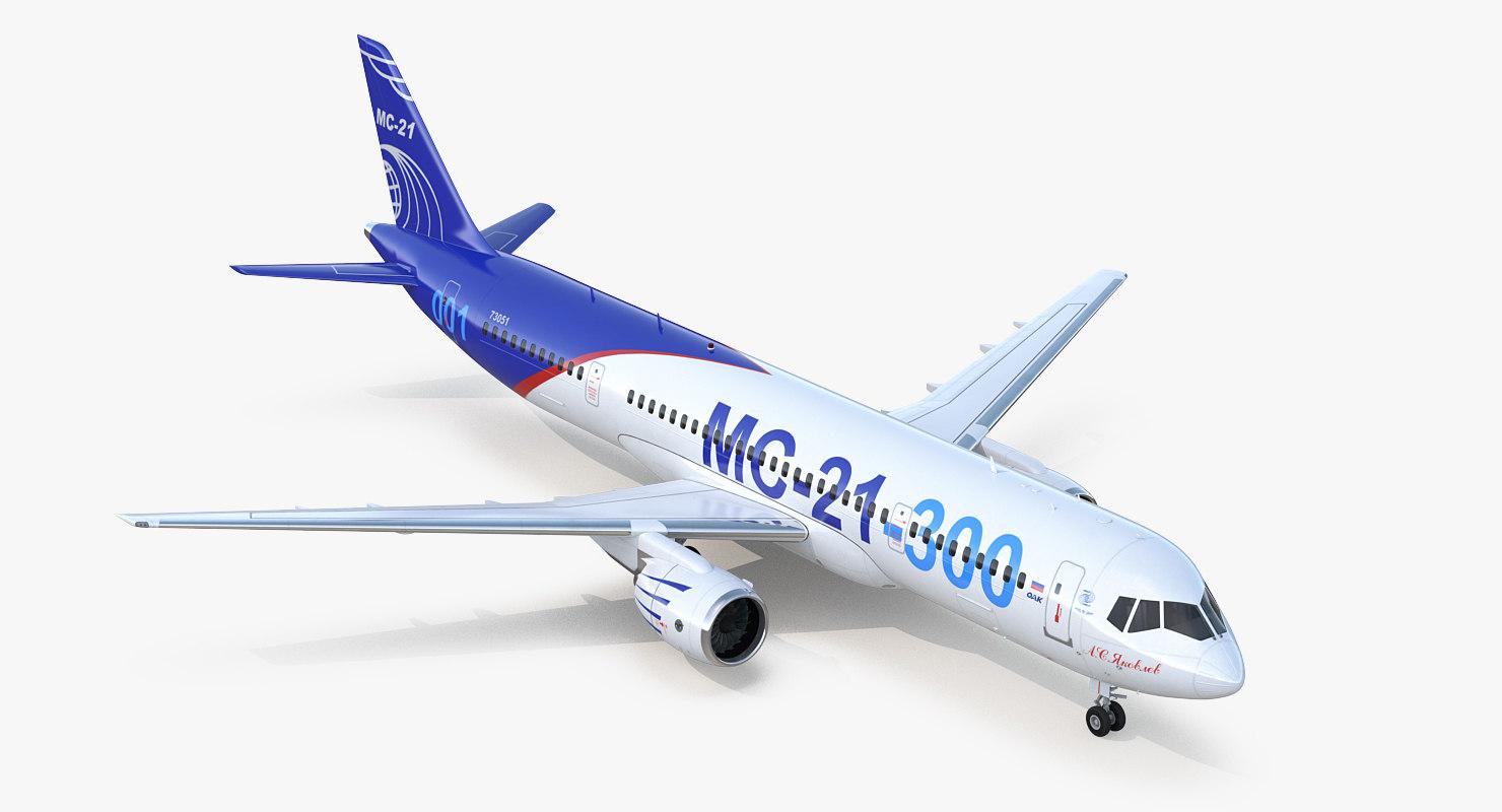 3D russian airliner mc-21 300 model
