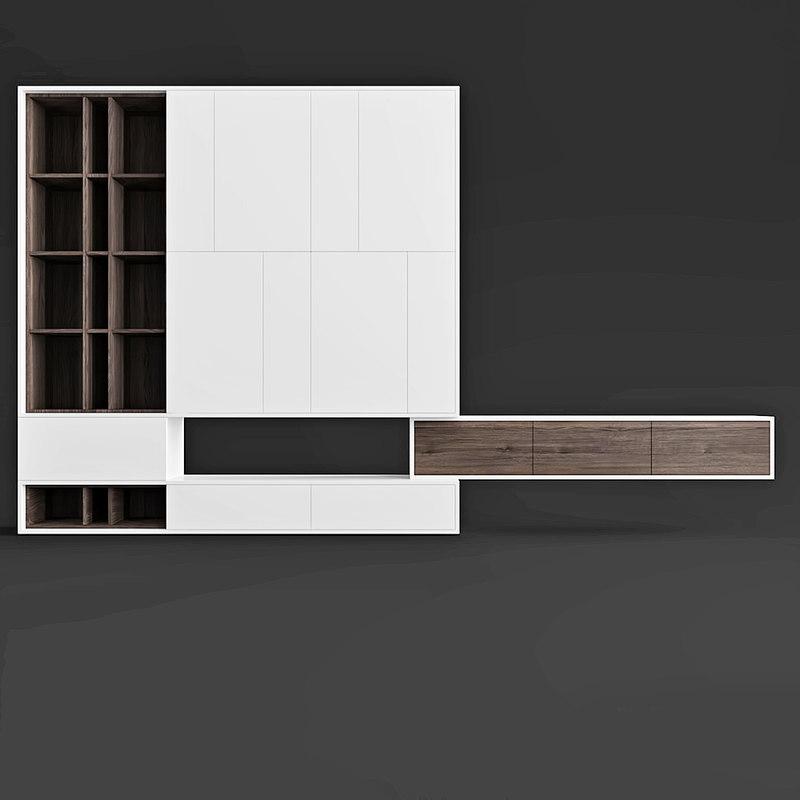3D model hulsta worhnwand living room