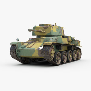 ww2 hungarian toldi tank 3D model