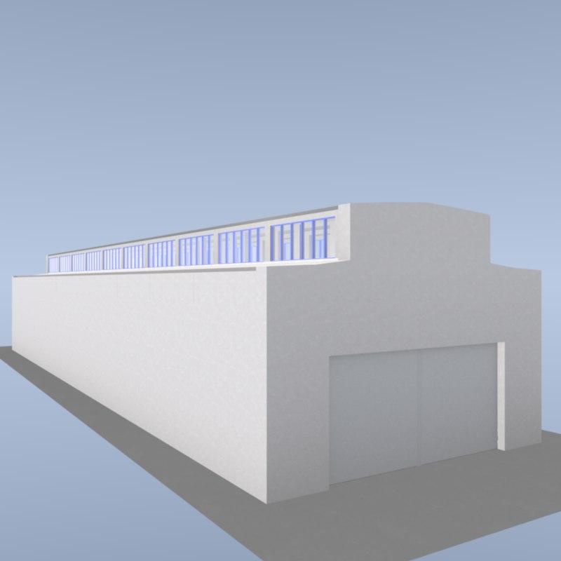 3D factory building lamp