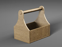 wooden toolbox model