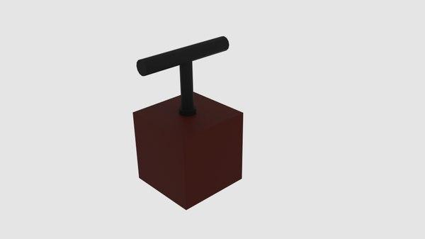 3D model simple explosive pusher