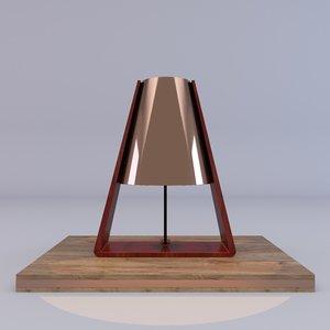 heals bend table lamp 3D