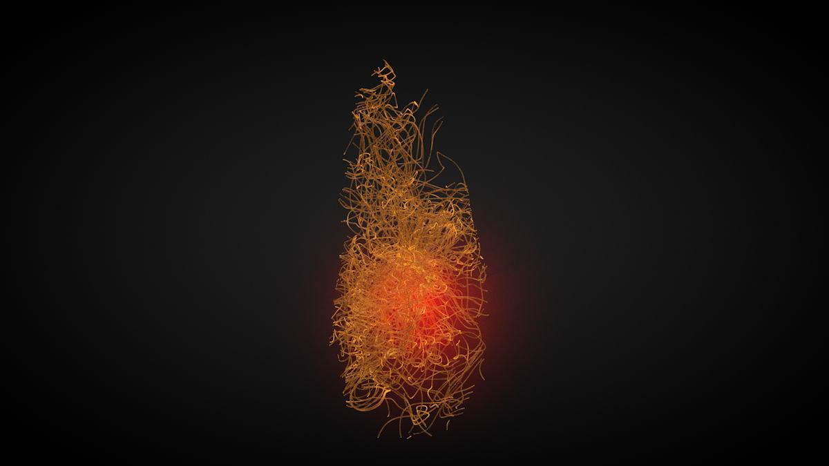 3D model crystal filaments