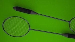 badminton racket 3D