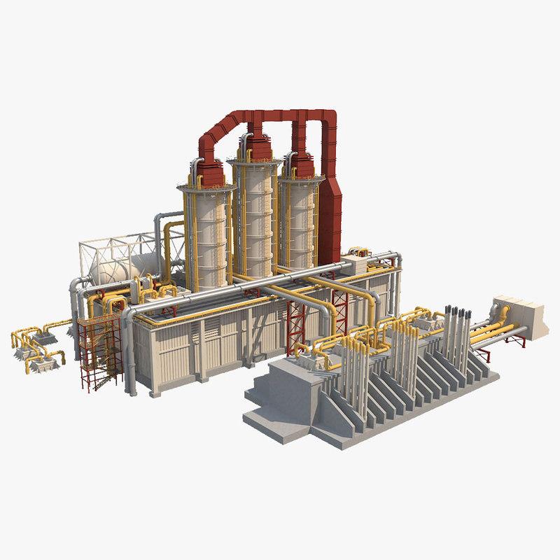 3D refinery plant