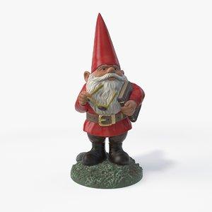 3D garden gnome