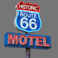 Street Sign Neon Route 66