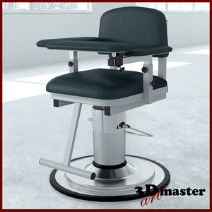 3D medical blood drawing chair model