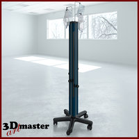 medical irrigation tower 3D
