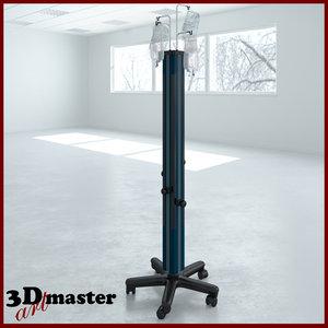 medical irrigation tower 3D