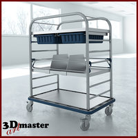 medical small distribution cart 3D model