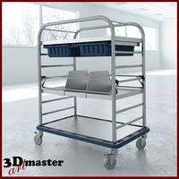 medical small distribution cart 3D model