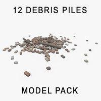 rubble debris pile model