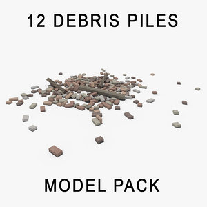 rubble debris pile model