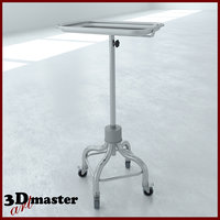 3D model medical tray unit
