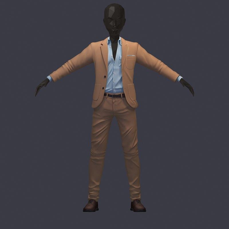 3D avatar pants shirt model