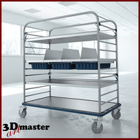 medical large distribution cart 3D model