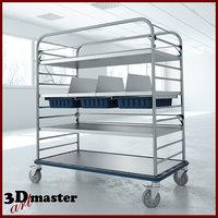 medical large distribution cart 3D model