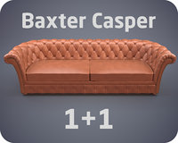 3D model baxter casper sofa armchair