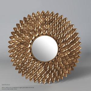 john petale fleur mirror 3D model