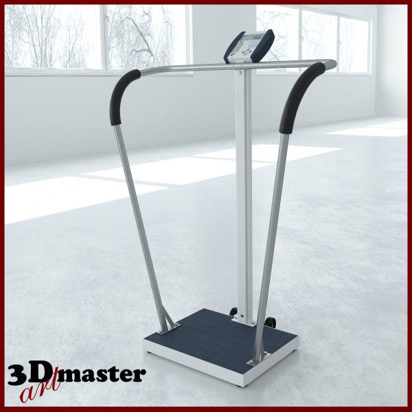 3D medical digital waist-high stand-on