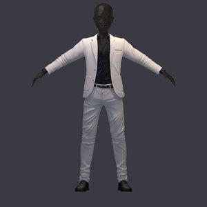 3D model avatar pants shirt