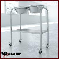 medical solution stand - 3D model