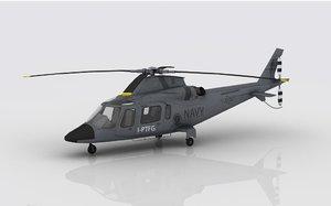 aw 109 navy 3D model