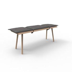 3D skagerak georg bench