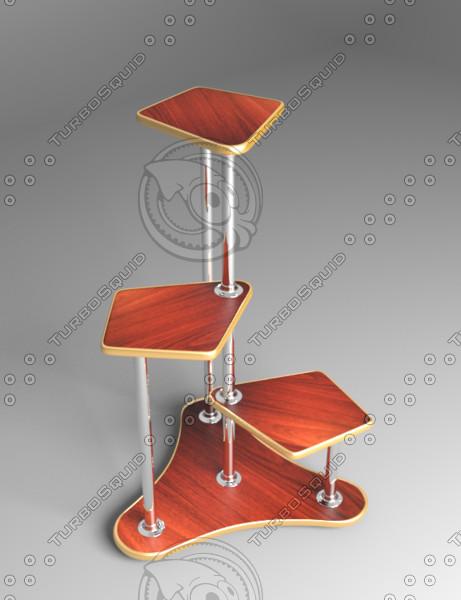 flower shelf 3D model