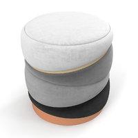 muranti obsidian stool 3D