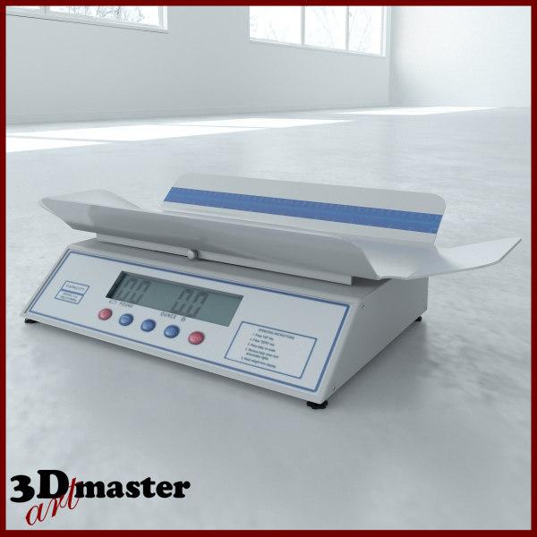 3D medical digital baby scale