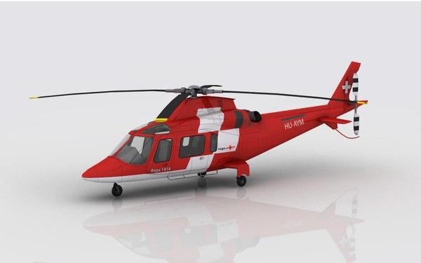 3D aw 109 emergency model