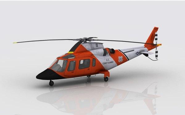 3D model aw 109 coast guard