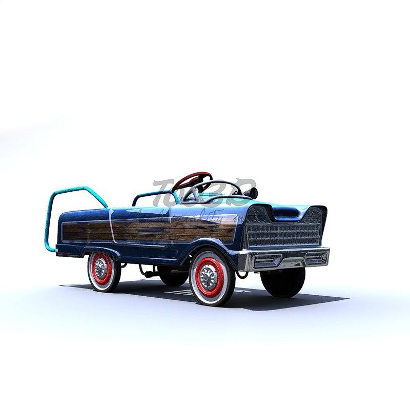 pedal car 3D
