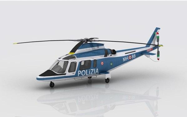 aw 109 polizia 3D model