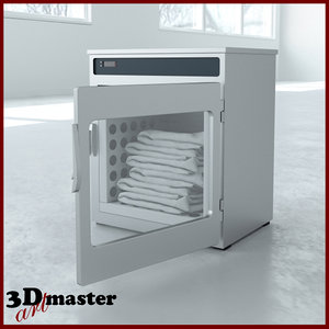 medical blanket warming cabinet 3D model