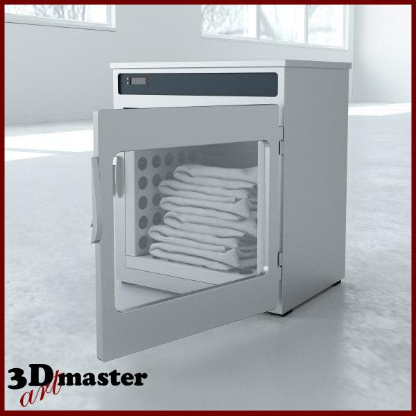 medical blanket warming cabinet 3D model