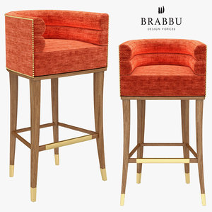 3D model maa | bar chair