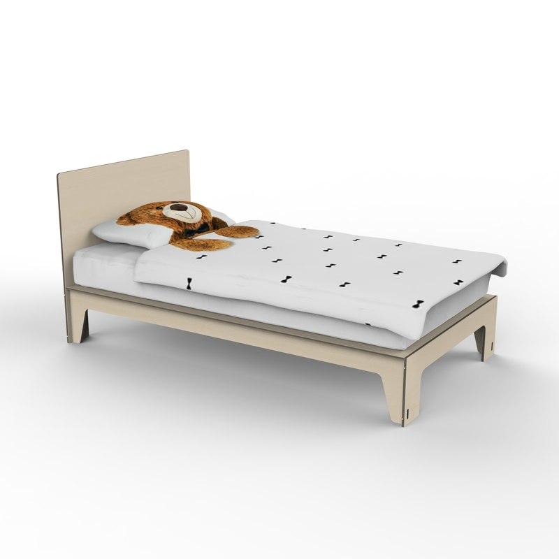 singolo bed 3D model