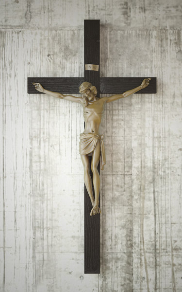crucifix sculpture christ 3D