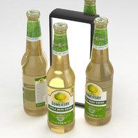 beer apple drink 3D model