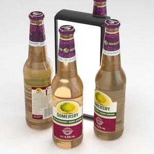3D beer blackberry drink model