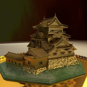 chinese golden house 3D