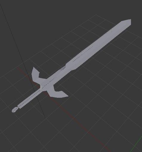 3D blender sword